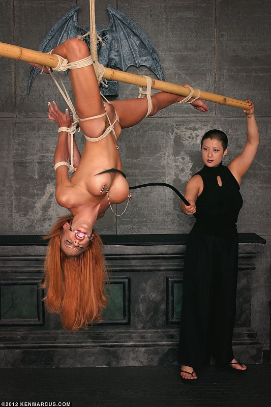 Lezdom BDSM and Rope Suspension