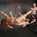 Suspension Bondage - Satine Phoenix and January Seraph